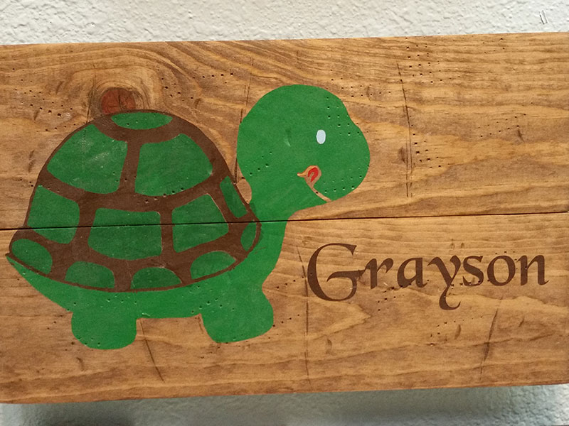 Kids Turtle with Name Personalized