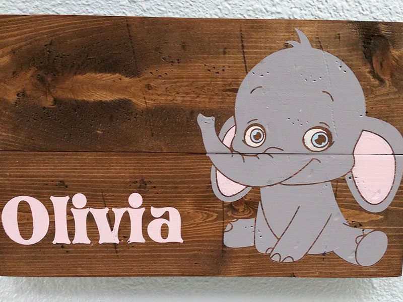 Kids Baby Elephant With Name Personalized