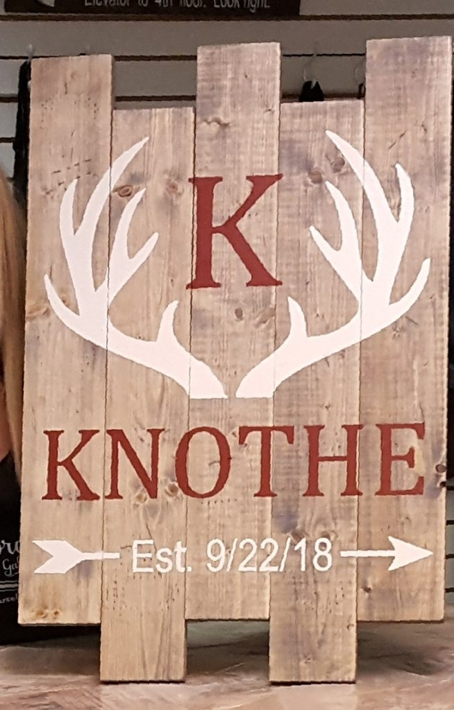 Deer with Arrow Personalized