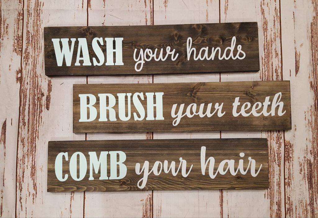 Wash, Brush, Comb