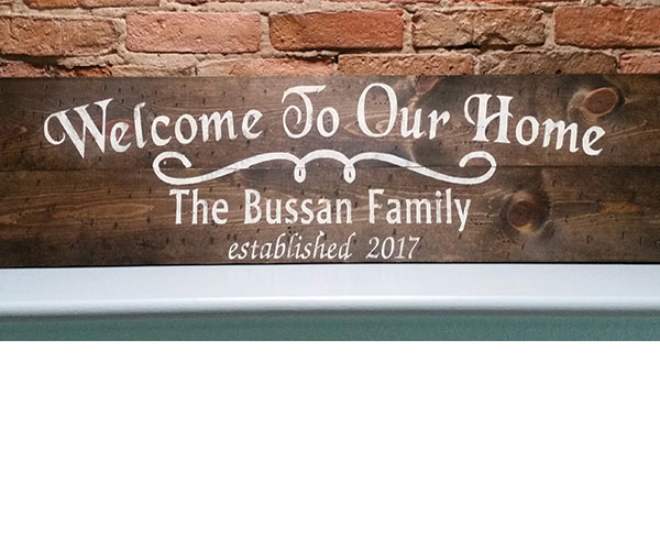 Welcome to Our Home (Personalized)