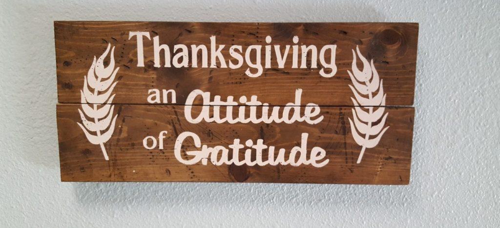 Thanksgiving-An Attitude