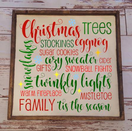 Christmas Words Oversized