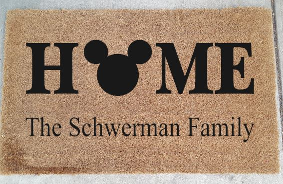 910 - Mickey Home Personalized