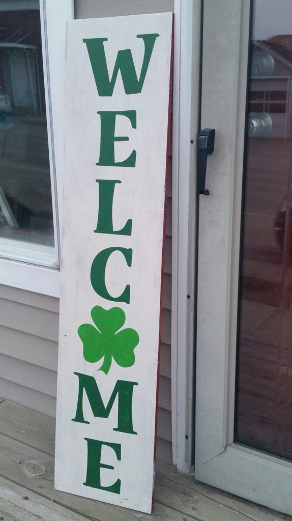 Porch - Welcome Shamrock