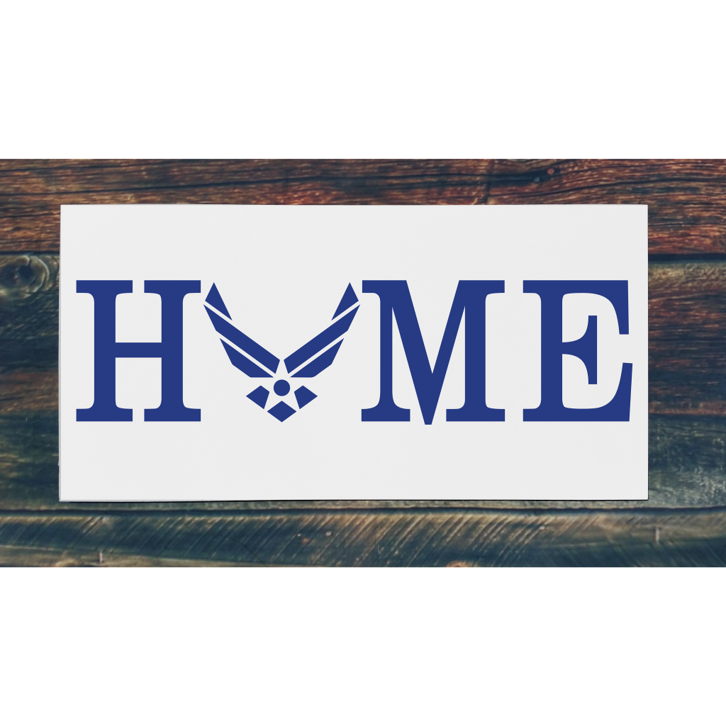 Airforce Home on 24x12 board