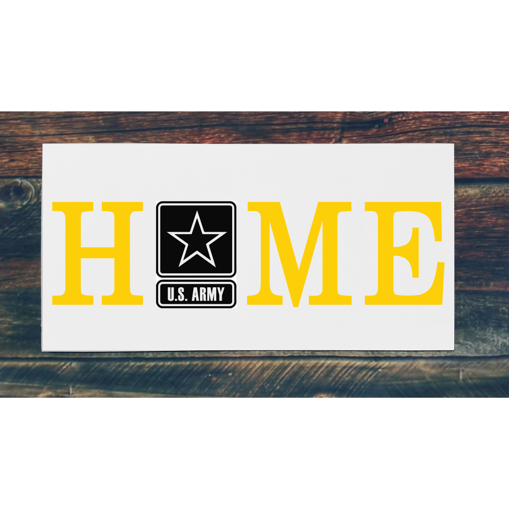 Army Home on 24x12 board