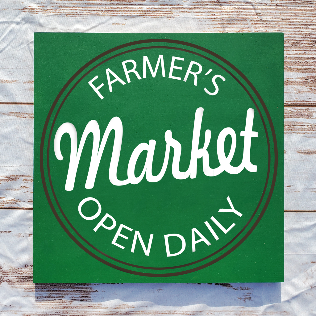 Farmers Market with circle on 16x16 board