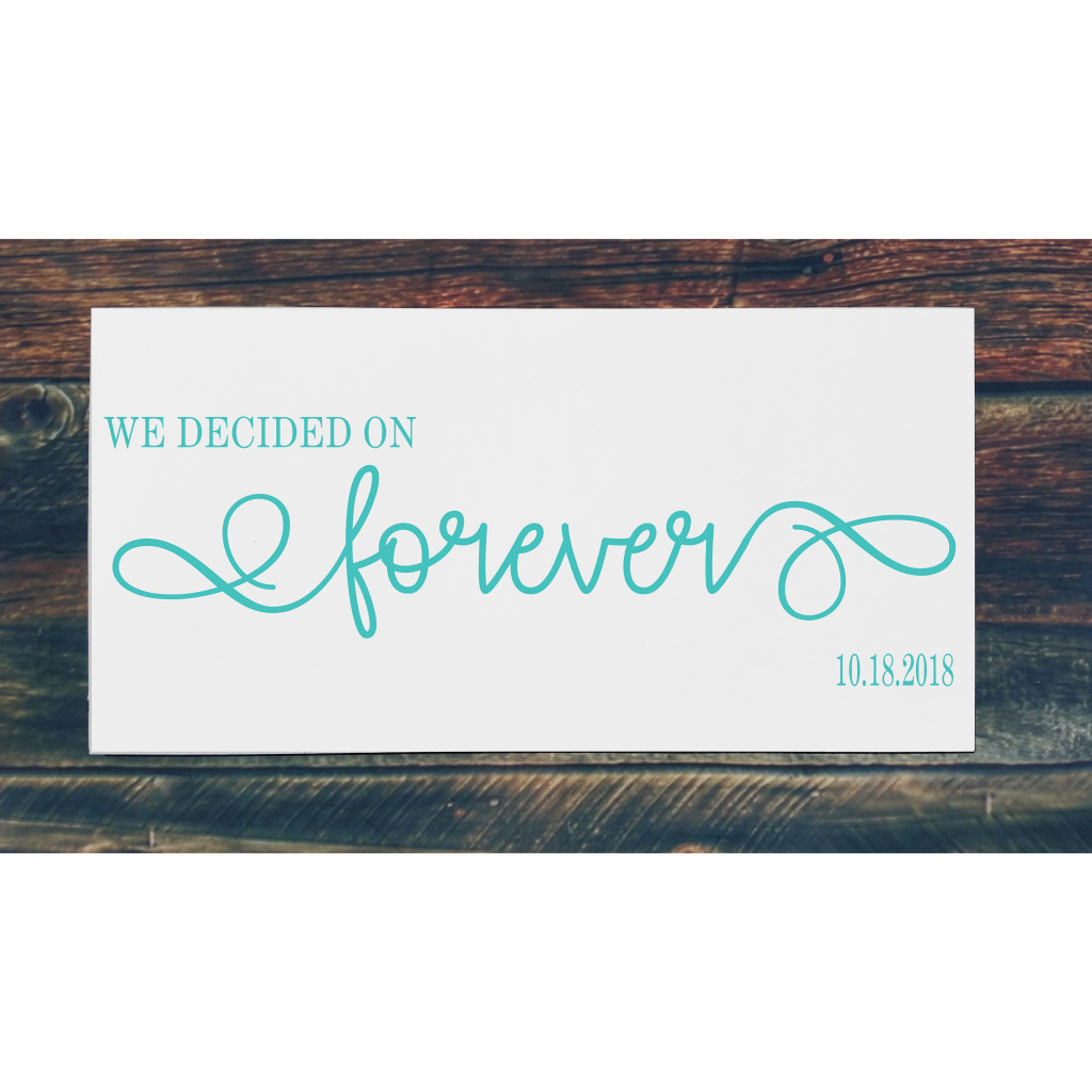 """""""We decided on forever"""" on 24x12 board"""