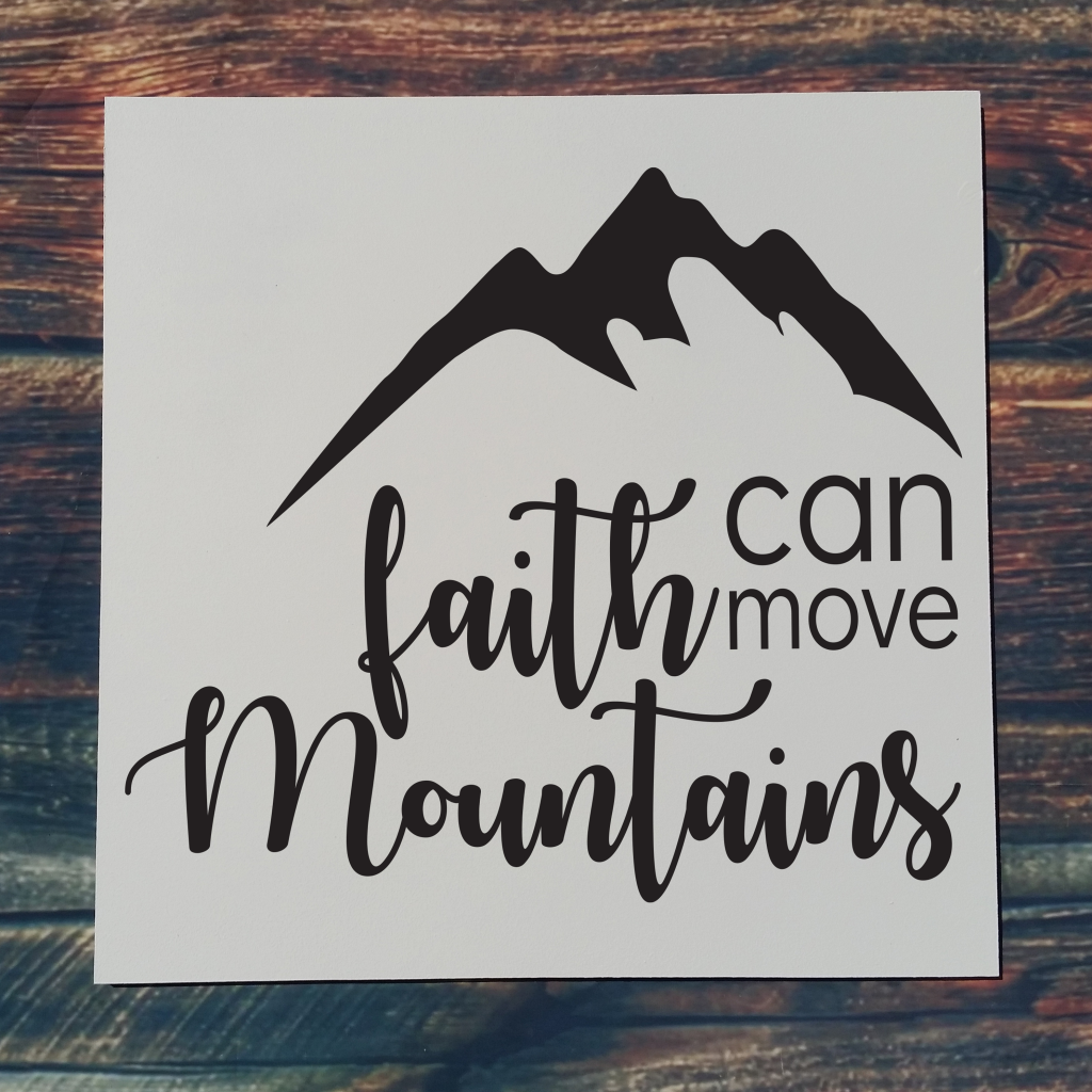 """Faith can move mountains"""" with mountain on 16x16 board"""