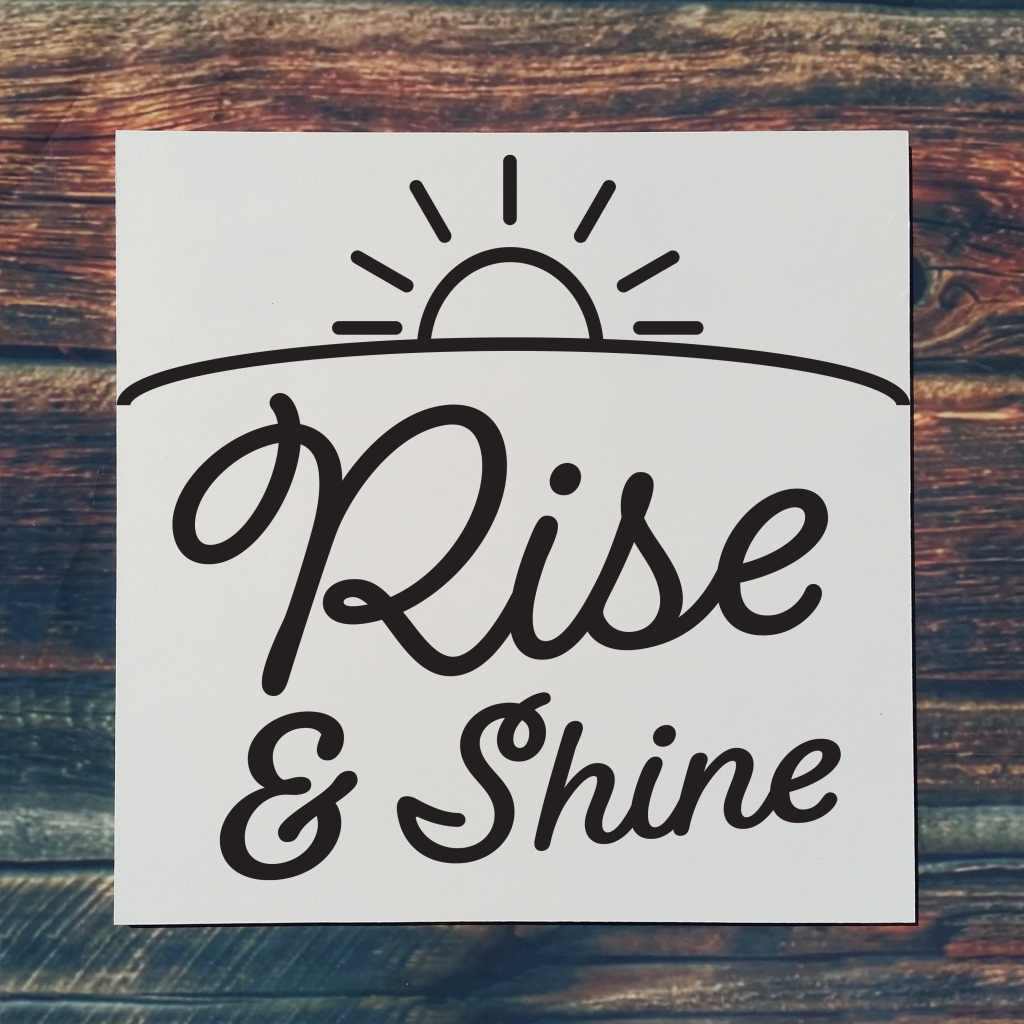 """""""Rise and Shine"""" with sun on 16x16 board"""