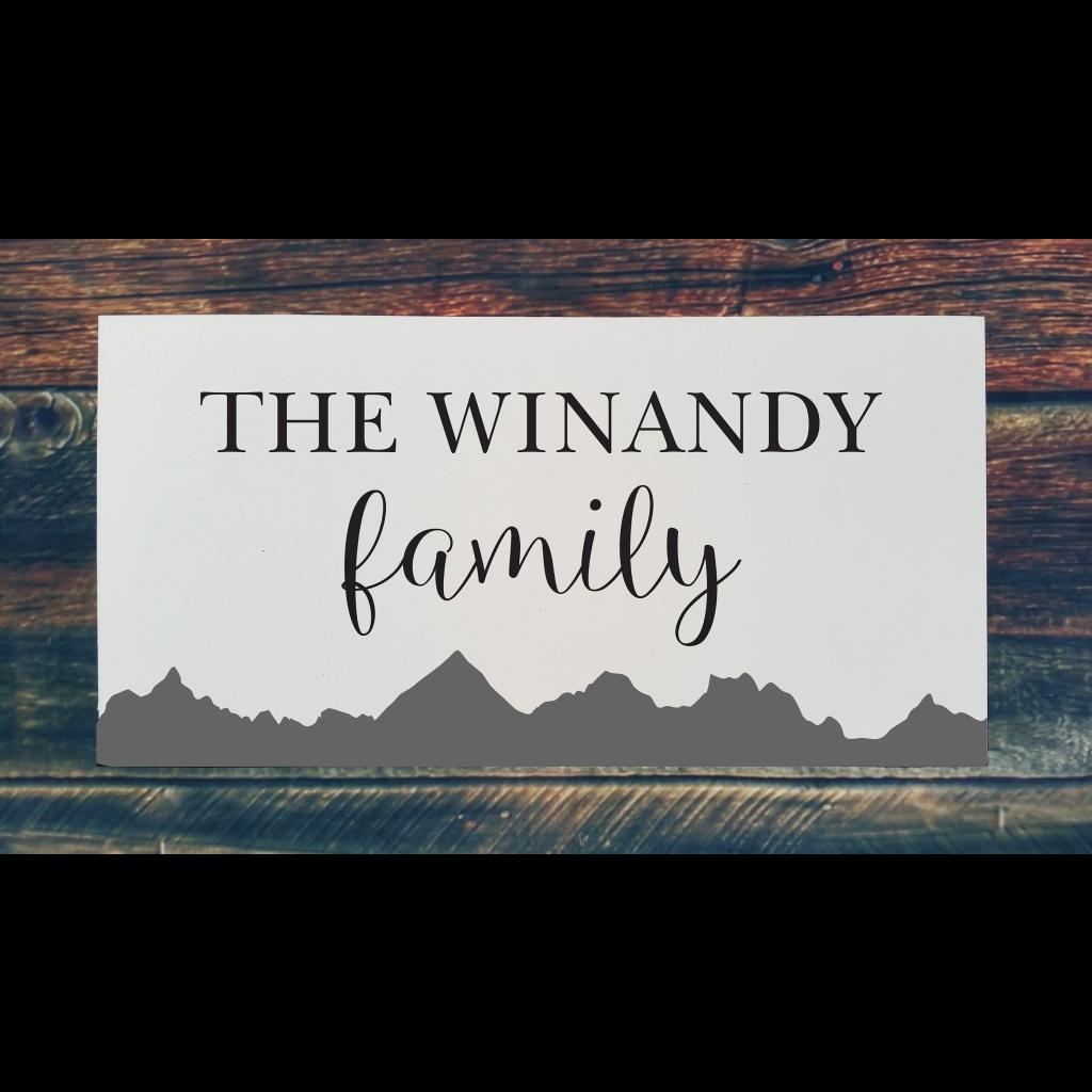 521 - Family Name Mountains (Personalize)